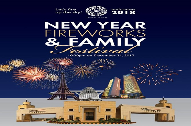New Year Celebration In All Major Bahria Town